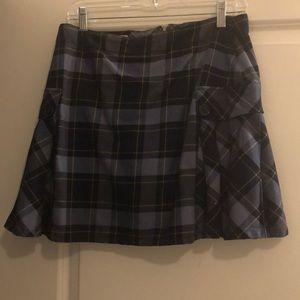 Cute Plaid Land's end skirt